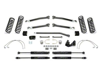 Fabtech 3 in. Trail II Lift System w/ Shocks (07-18 Jeep Wrangler JK 4 Door)