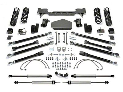 Fabtech 3 inch Crawler Long Travel Lift System w/ Shocks (07-18 Jeep Wrangler JK 2 Door)