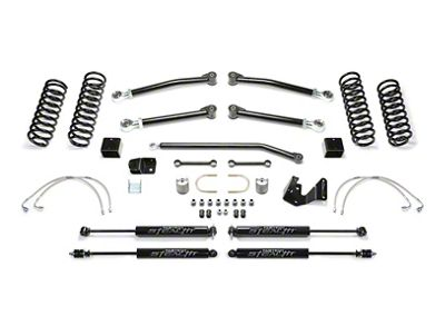 Fabtech 3 in. Trail II Lift System w/ Shocks (07-18 Jeep Wrangler JK 2 Door)
