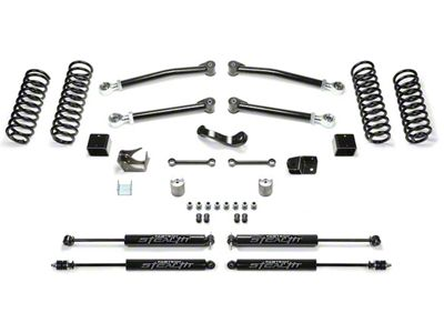 Fabtech 3 in. Trail Lift System w/ Shocks (07-18 Jeep Wrangler JK 2 Door)