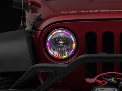 Oracle Dynamic ColorSHIFT Headlight Halo Conversion Kit (07-18 Jeep Wrangler JK)