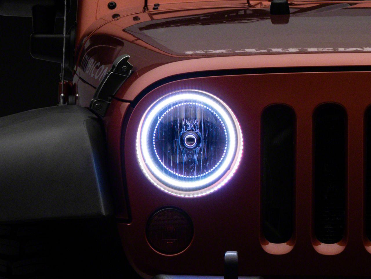 Oracle LED Waterproof Headlight Halo Conversion Kit - ColorSHIFT (07-18 Jeep Wrangler JK)
