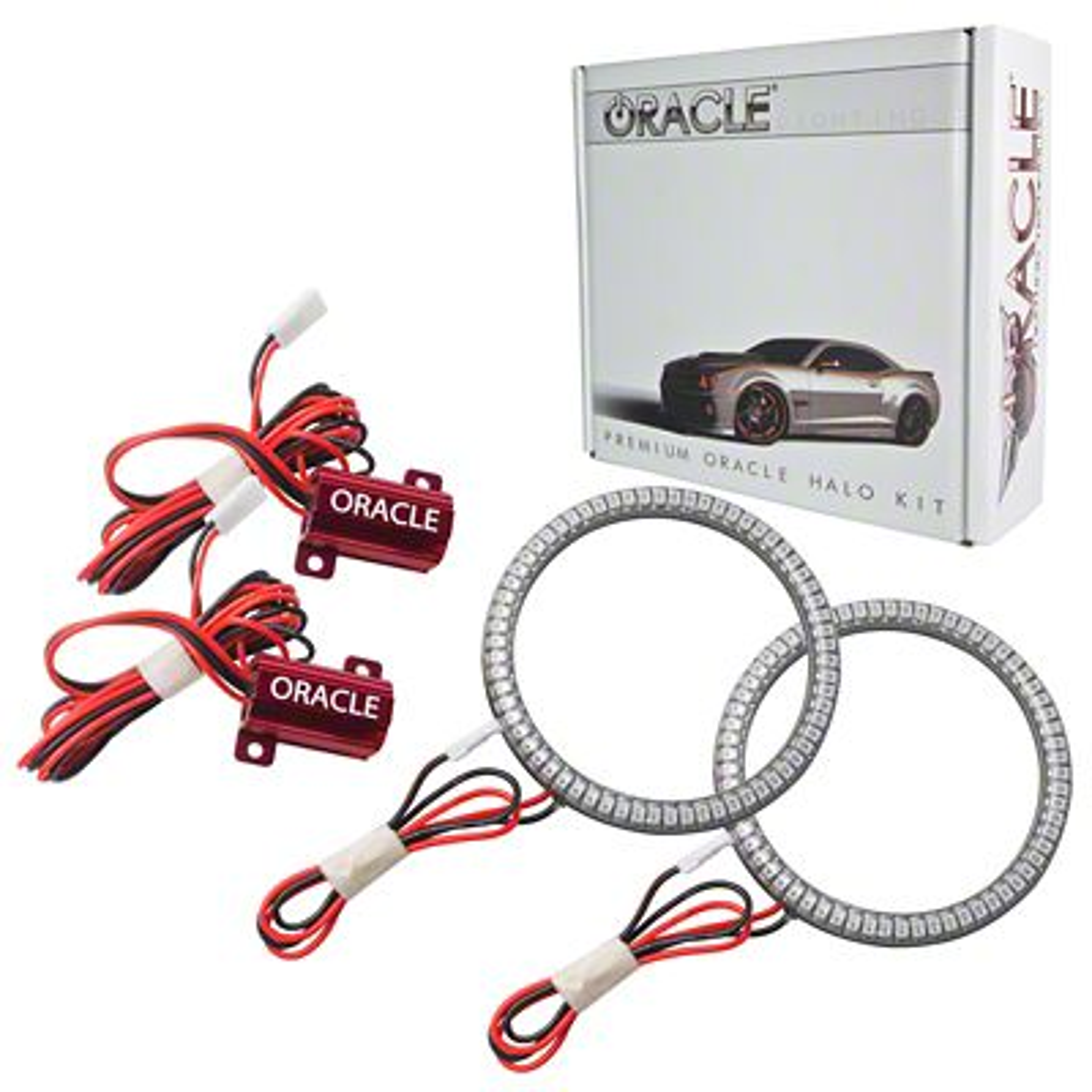 Oracle LED Waterproof Fog Light Halo Conversion Kit - Red (07-18 Jeep Wrangler JK)