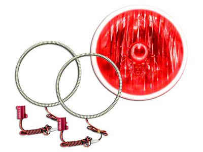 Oracle LED Waterproof Fog Light Halo Conversion Kit - Red (97-06 Jeep Wrangler TJ)