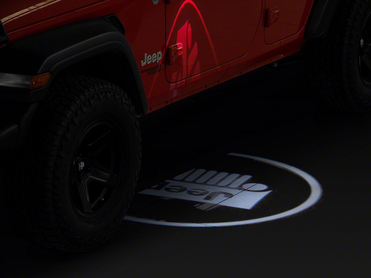 Oracle LED Door Projectors - JEEP Logo (87-18 Jeep Wrangler YJ, TJ, JK & JL)