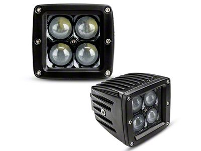 Oracle 3 in. LED Square Lights w/ A-Pillar Mounting Brackets (07-18 Jeep Wrangler JK)