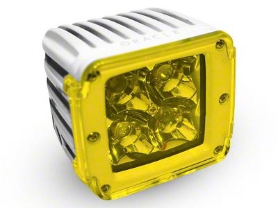 Oracle 3 in. Off-Road Series Square LED Light w/ Yellow Lens - Spot Beam