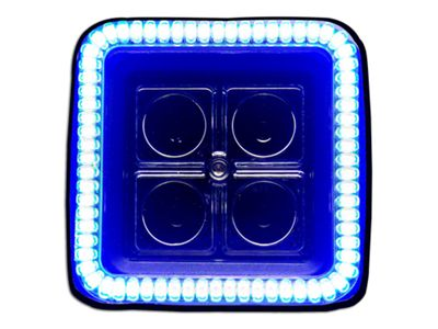 Oracle 3 in. Off-Road Series Square LED Light w/ Blue Halo - Spot Beam
