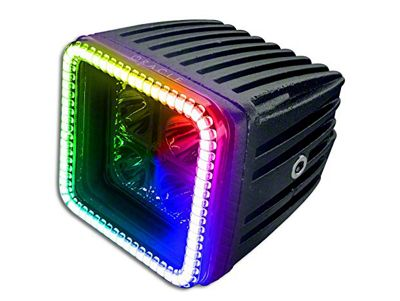 Oracle 3 in. Off-Road Series Square LED Light w/ ColorSHIFT Halo - Spot Beam
