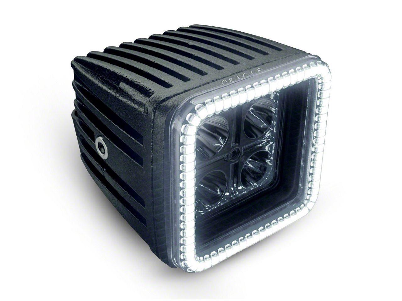 Oracle 3 in. Square Halo for Cube/Square Lights - White (87-18 Jeep Wrangler YJ, TJ, JK & JL)