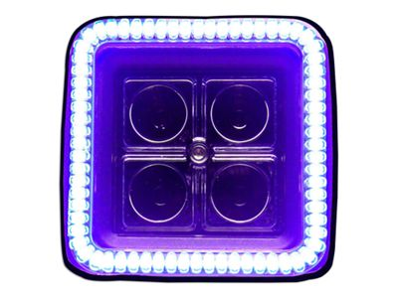 Oracle 3 in. Square Halo for Cube/Square Lights - UV/Purple (87-18 Jeep Wrangler YJ, TJ, JK & JL)
