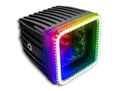 Oracle 3 in. Square Halo for Cube/Square Lights - ColorSHIFT (87-18 Jeep Wrangler YJ, TJ, JK & JL)