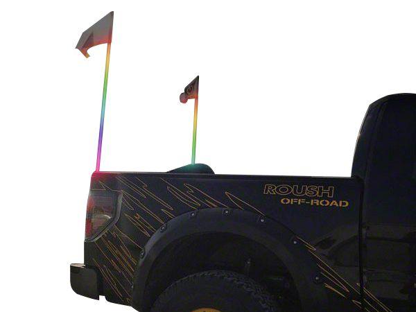 Oracle Off-Road 4 ft. LED Whip - ColorSHIFT (87-18 Jeep Wrangler YJ, TJ, JK & JL)