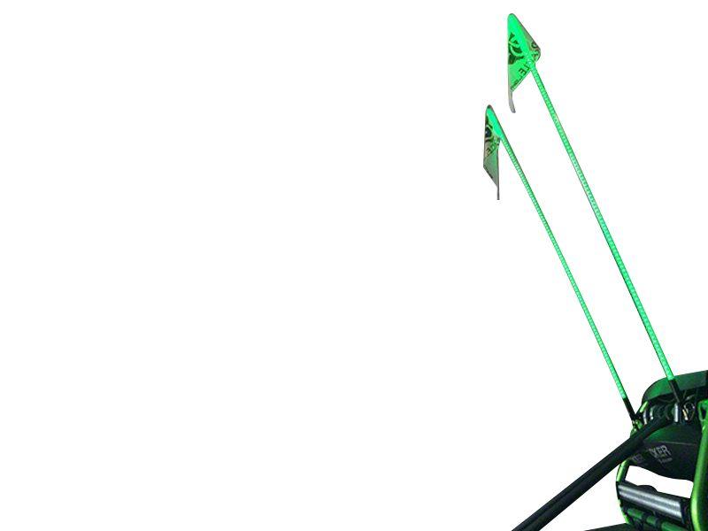 Oracle Off-Road 6 ft. LED Whip - Green (87-18 Jeep Wrangler YJ, TJ, JK & JL)
