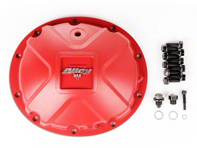 Alloy USA Dana 35 Aluminum Differential Cover - Red (87-06 Jeep Wrangler YJ & TJ)