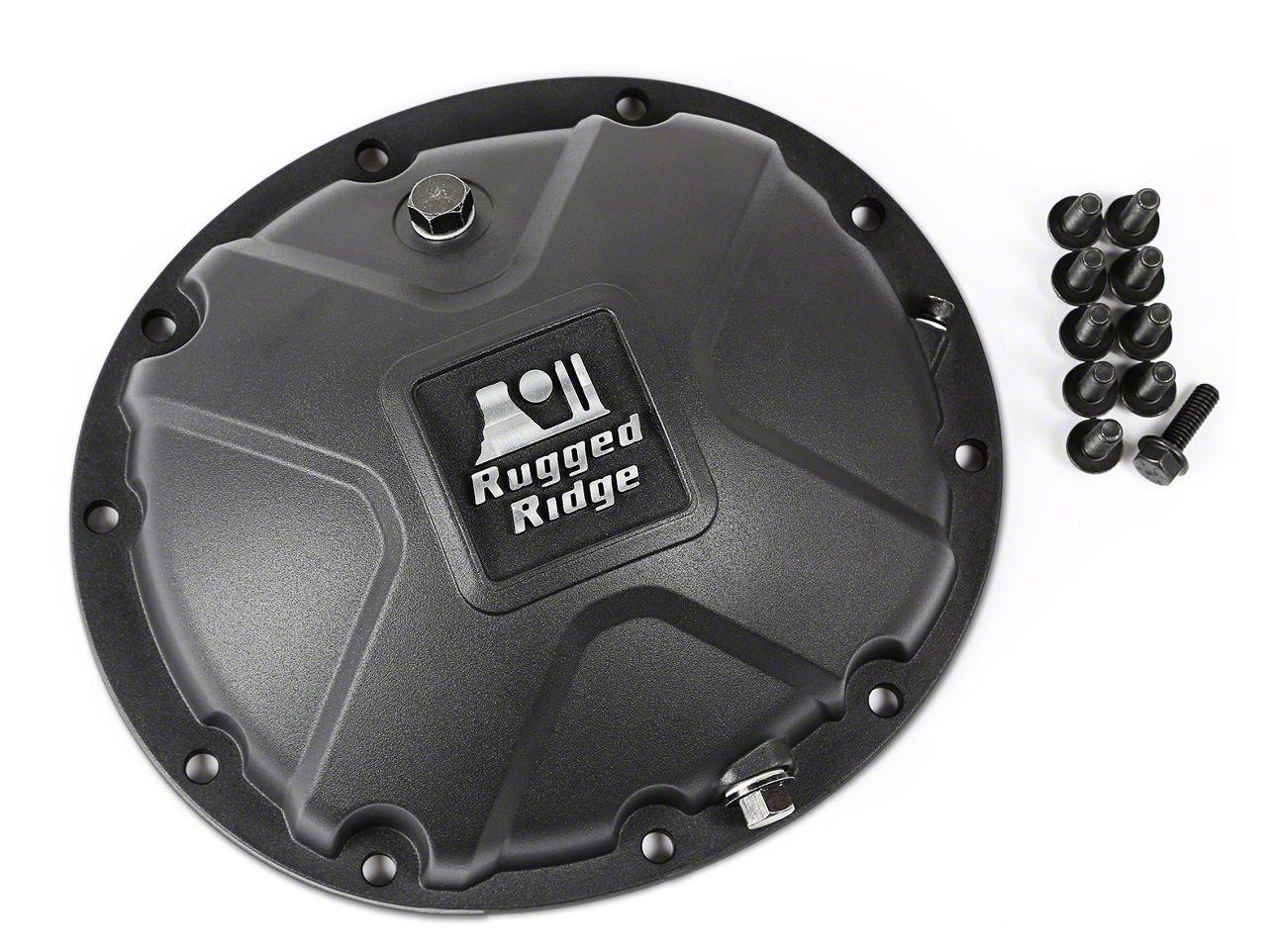Rugged Ridge Dana 35 Boulder Aluminum Differential Cover - Black (87-06 Jeep Wrangler YJ & TJ)