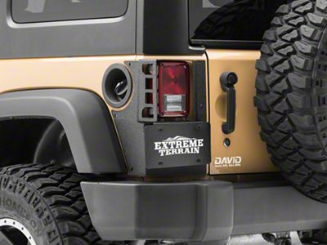 Rugged Ridge XHD Rear Corner Guards (07-18 Jeep Wrangler JK 4 Door)