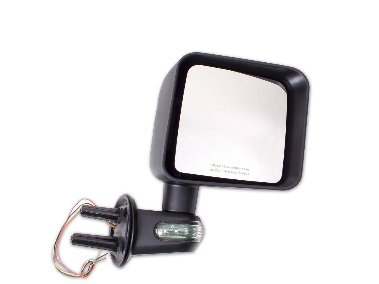 Rugged Ridge Door Mirror w/ LED Turn Signals - Passenger Side (07-18 Jeep Wrangler JK)