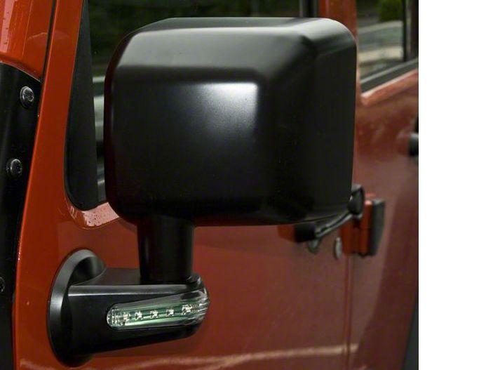 Rugged Ridge Door Mirror w/ LED Turn Signals - Driver Side (07-18 Jeep Wrangler JK)