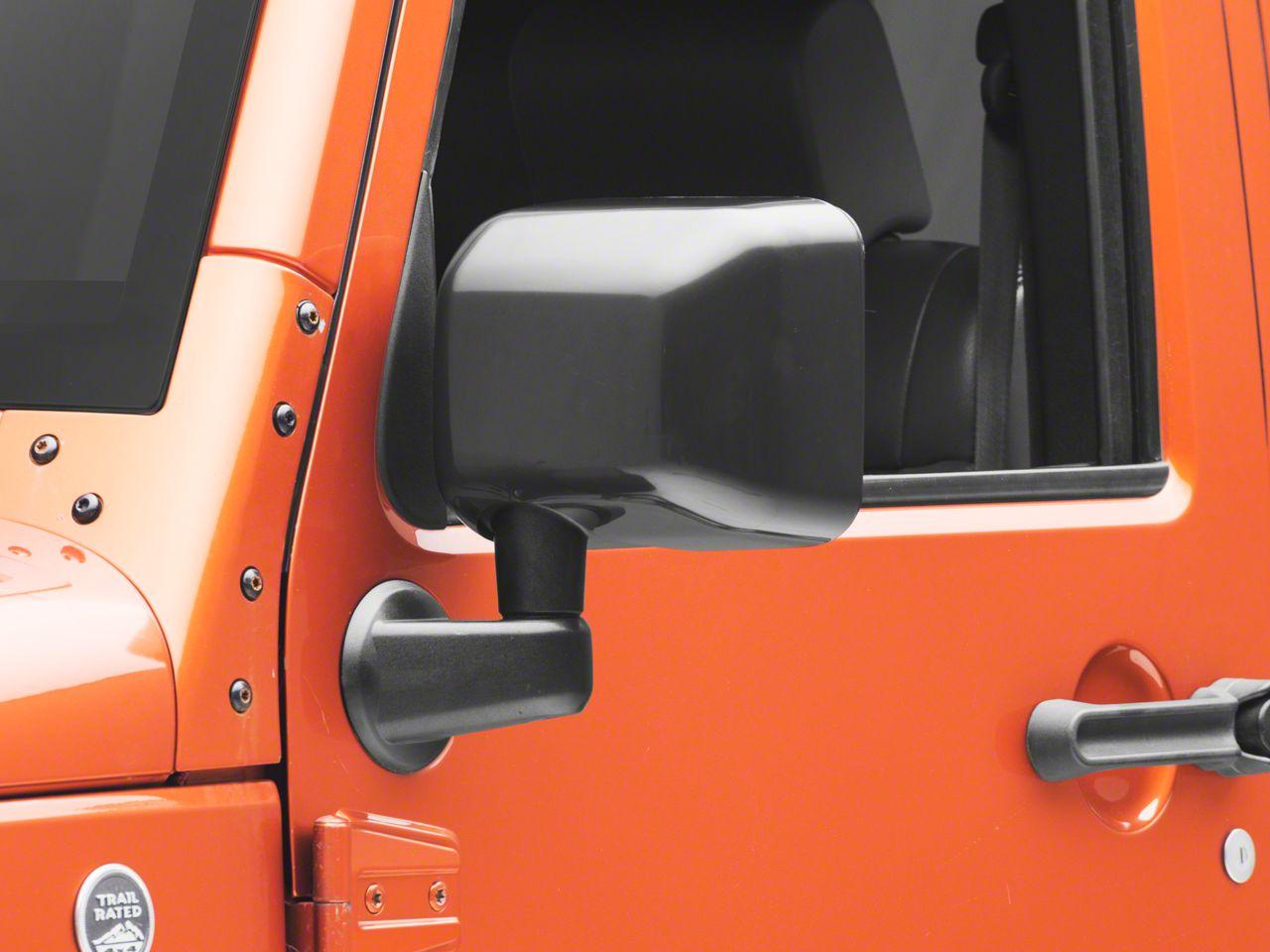 Rugged Ridge Mirror Covers - Black (07-18 Jeep Wrangler JK)