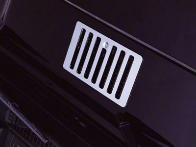Rugged Ridge Cowl Vent Cover - Stainless Steel (97-06 Jeep Wrangler TJ)