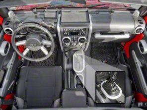 Rugged Ridge Brushed Silver Interior Trim Accent Kit (07-10 Jeep Wrangler JK 2 Door w/ Manual Transmission & Powered Windows)