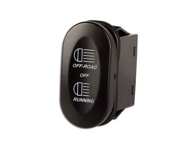 Rugged Ridge 3-Position Rocker Switch w/ Off-Road/Running Light Logo (87-18 Jeep Wrangler YJ, TJ, JK & JL)