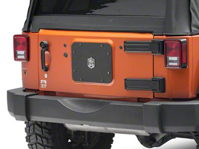Deegan 38 Spare Tire Delete w/ License Plate Mount (07-18 Jeep Wrangler JK)