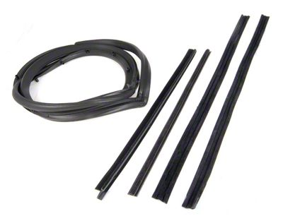 Omix-ADA Driver Side Door Seal Kit w/ Hardtop & Moveable Vent Window (87-95 Jeep Wrangler YJ)