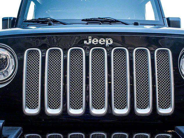 ACC Mesh Grille Insert - Chrome (07-18 Jeep Wrangler JK)