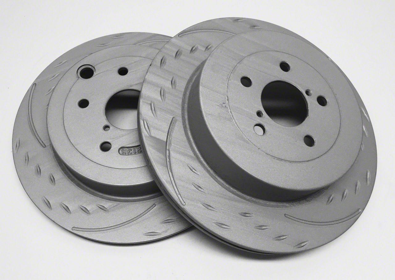 SP Performance Diamond Slot Rotors w/ Gray ZRC - Rear Pair (07-18 Jeep Wrangler JK)