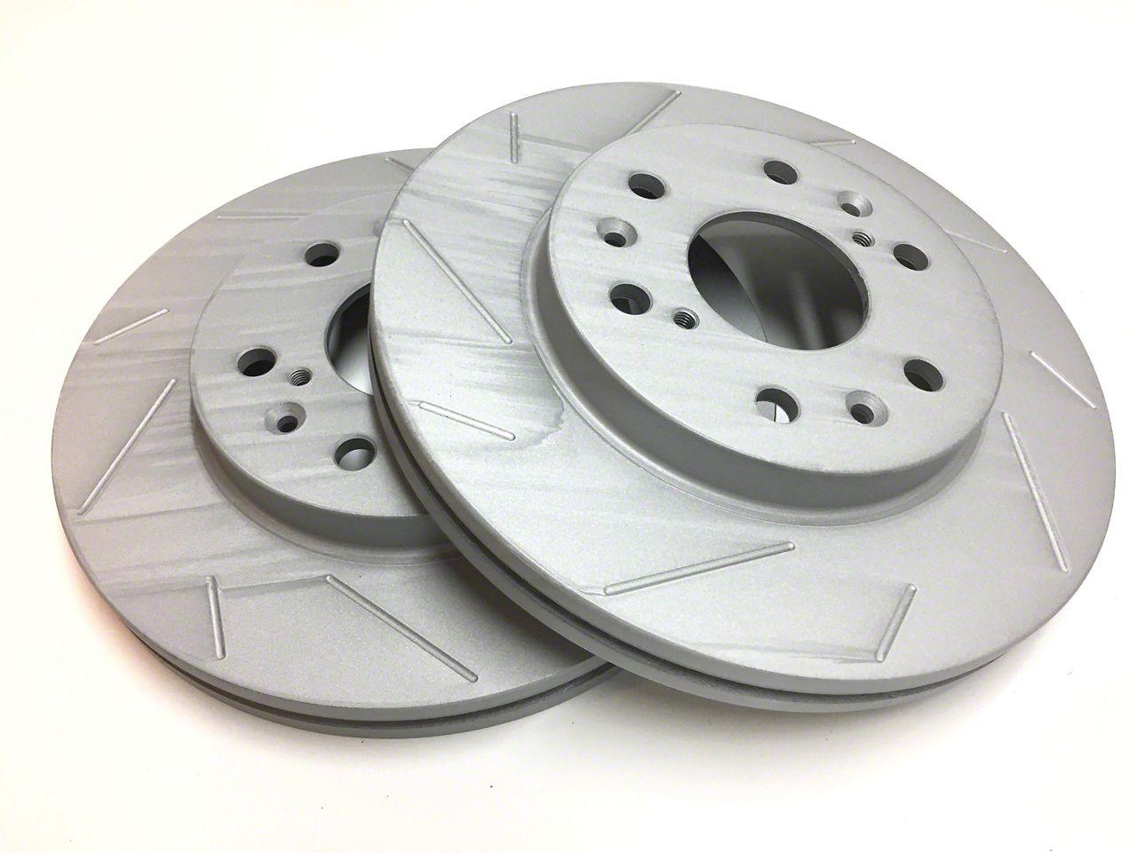 SP Performance Slotted Rotors w/ Gray ZRC - Rear Pair (07-18 Jeep Wrangler JK)