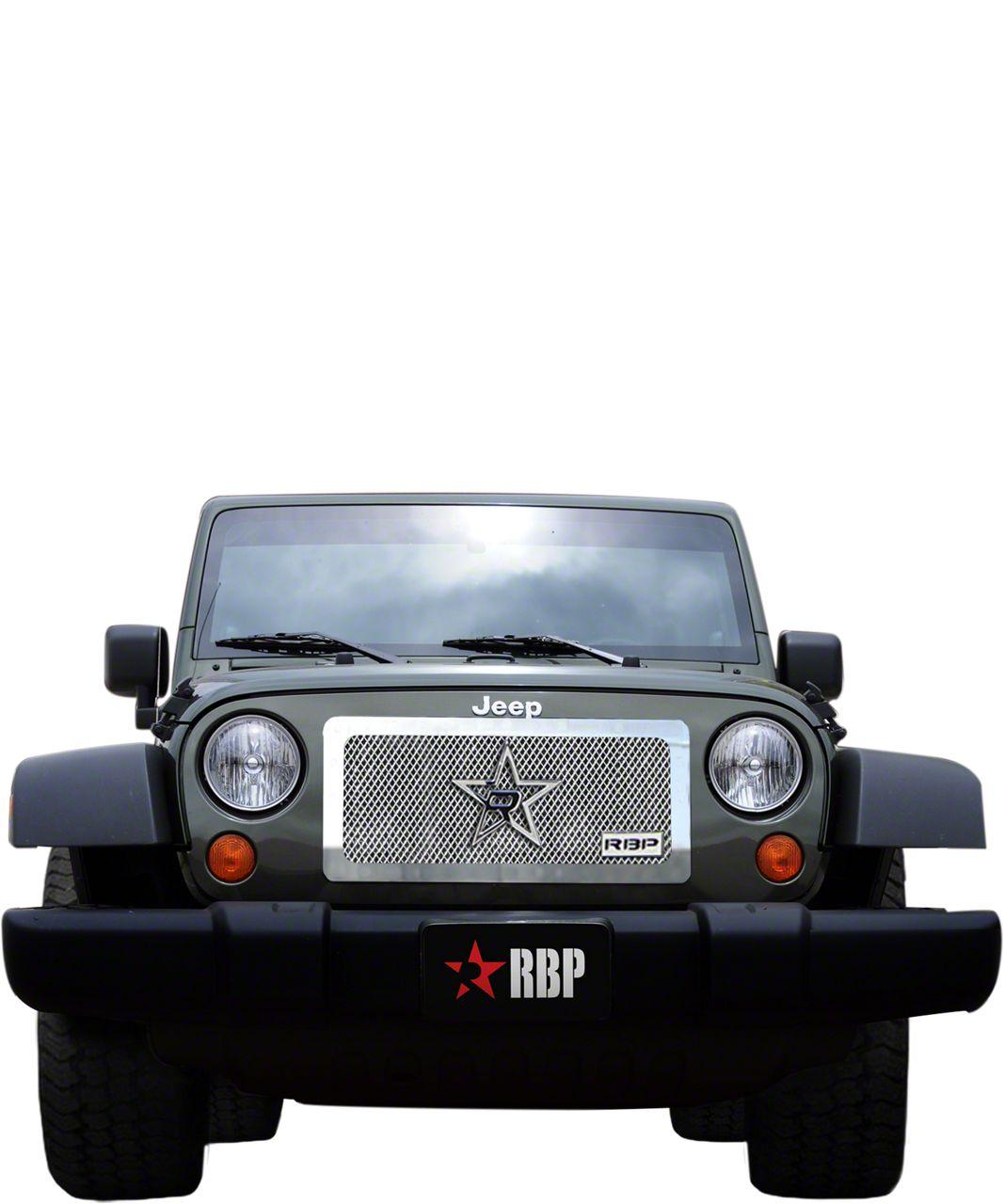 RBP RL Series Smooth Frame Grille - Chrome (97-06 Jeep Wrangler TJ)