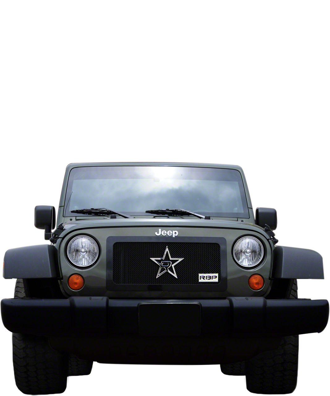 RBP RL Series Smooth Frame Grille - Black (97-06 Jeep Wrangler TJ)