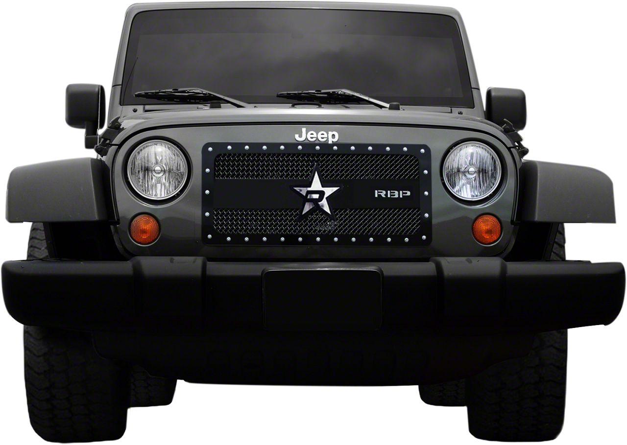 RBP RX-3 Series Studded Frame Grille - Black (97-06 Jeep Wrangler TJ)