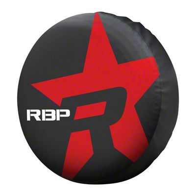 RBP Spare Tire Cover for 29.5-32.5 in. Tires - Red Star (87-19 Jeep Wrangler YJ, TJ, JK & JL)