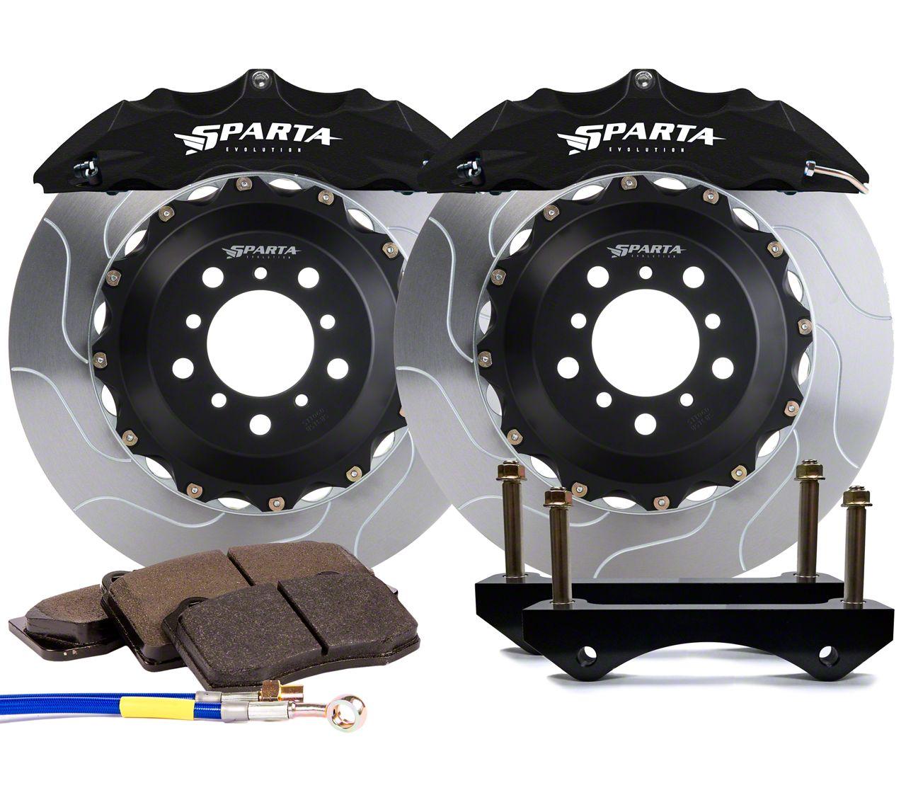 Sparta Evolution Satrun Front Big Brake Kit - Black (07-18 Jeep Wrangler JK)