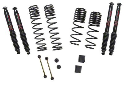 SkyJacker 1-1.5 in. Dual Rate Long Travel Suspension Lift Kit w/ Black MAX Shocks (18-19 Jeep Wrangler JL 4 Door, Excluding Rubicon)