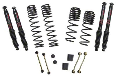 SkyJacker 2-2.5 in. Dual Rate Long Travel Suspension Lift Kit w/ Black MAX Shocks (2018 Jeep Wrangler JL 4 Door, Excluding Rubicon)