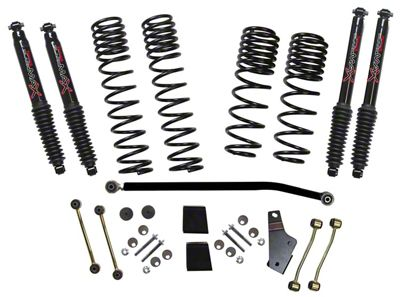 SkyJacker 3.5-4 in. Dual Rate Long Travel Suspension Lift Kit w/ Black MAX Shocks (18-19 Jeep Wrangler JL 4 Door, Excluding Rubicon)