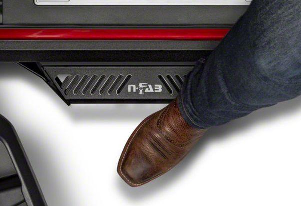 N-Fab Predator Pro Nerf Side Step Bars - Textured Black (12-18 Jeep Wrangler JK 2 Door)