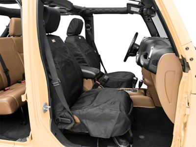 Rugged Ridge Elite Ballistic Heated Front Seat Covers (07-18 Jeep Wrangler JK)
