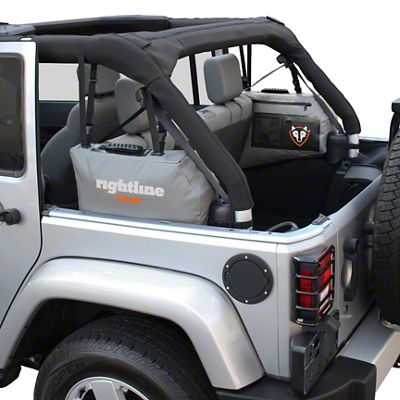 Rightline Gear Gear Side Storage Bag - Gray (07-18 Jeep Wrangler JK 4 Door)
