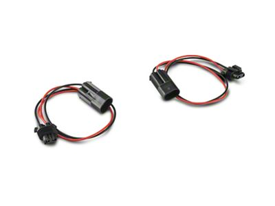 Barricade 18 in. Fog Light Extension Harness - Pair (07-19 Jeep Wrangler JK & JL)