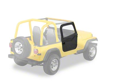 Bestop 2-Piece Full Fabric Doors - Black Crush (87-95 Jeep Wrangler YJ)