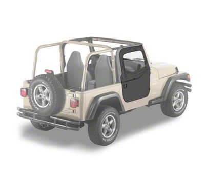 Bestop 2-Piece Full Fabric Doors - Black Denim (97-06 Jeep Wrangler TJ)
