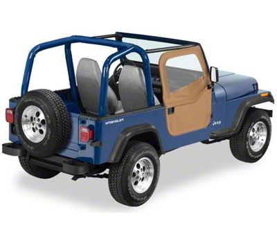 Bestop 2-Piece Full Fabric Doors - Spice (87-95 Jeep Wrangler YJ)