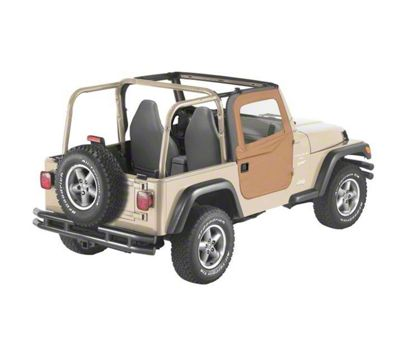 Bestop 2-Piece Full Fabric Doors - Spice (97-06 Jeep Wrangler TJ)