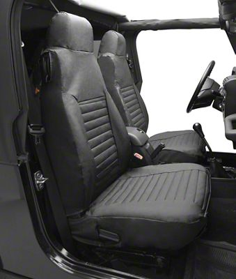 Bestop Front High-Back Seat Covers - Black Denim (87-95 Jeep Wrangler YJ)