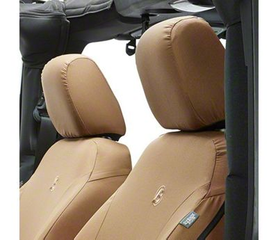 Bestop Front Seat Covers - Tan (07-18 Jeep Wrangler JK)